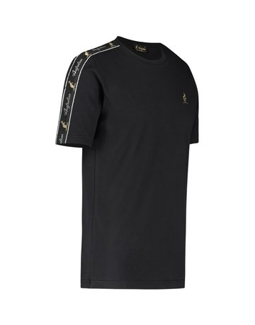 Australian Australian T-Shirt Jersey met sleeve bies (Black/Black)