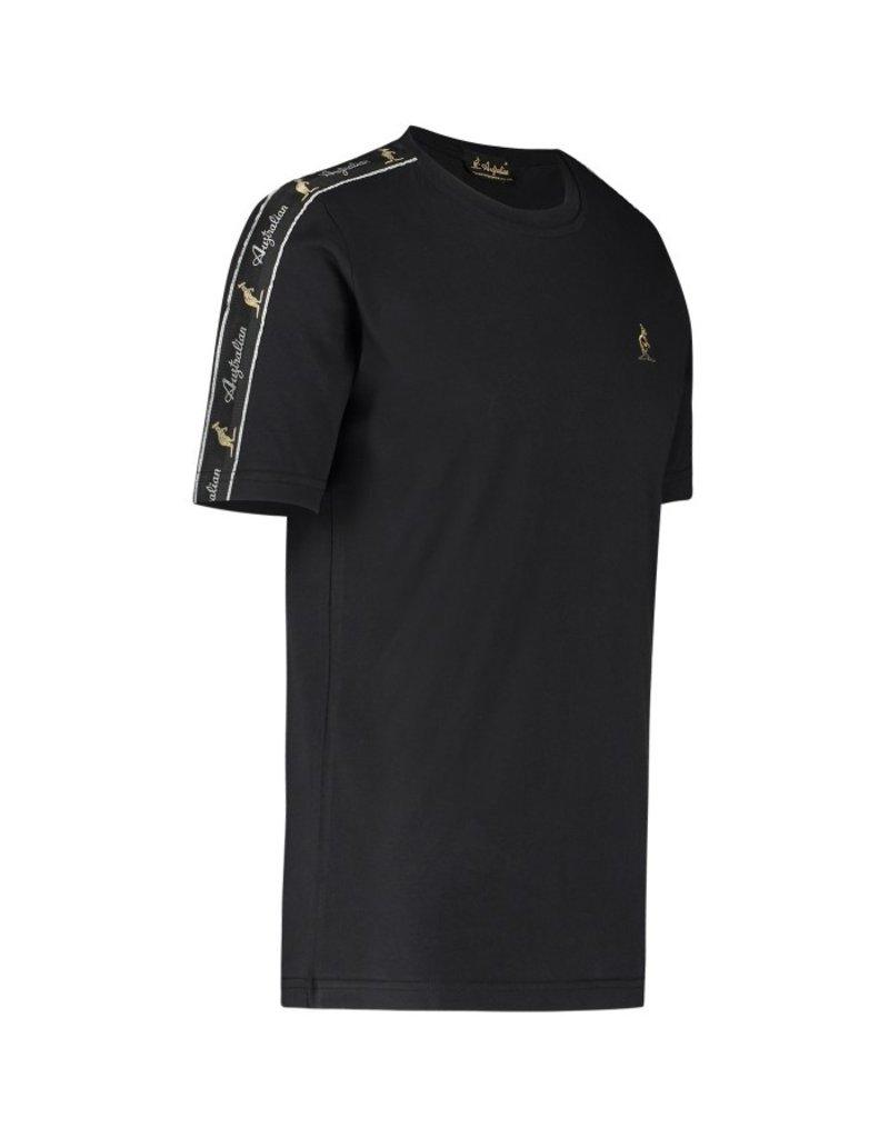 Australian Australian T-Shirt Jersey mit Streifen (Black/Black)