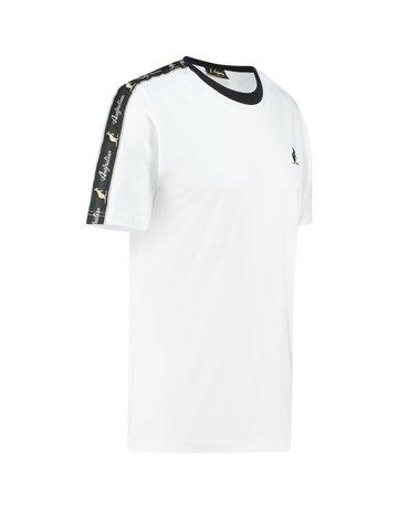 Australian Australian T-Shirt Jersey with tape (White/Black)