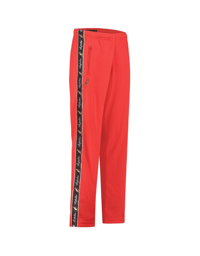 Australian Australian Track Pants with tape (Bright Red/Black)