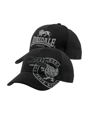 Lonsdale Lonsdale Cap 'Leiston' 2-Pack