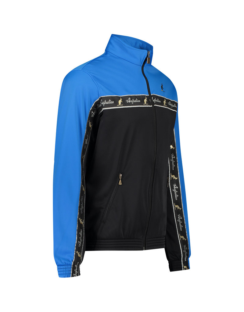 Australian Australian Duo Track Jacket with tape (Capri Blue/Black)