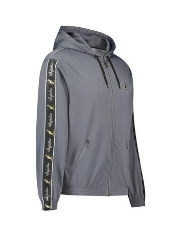 Australian Australian Hooded Track Jacket with tape (Steel Grey/Black)