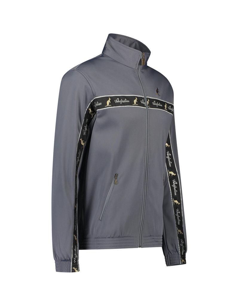 Australian Australian Uni Track Jacket with tape (Steel Grey/Black)