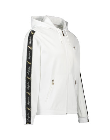 Australian Australian Hooded Trainingsjacke mit Streifen (White/Black)