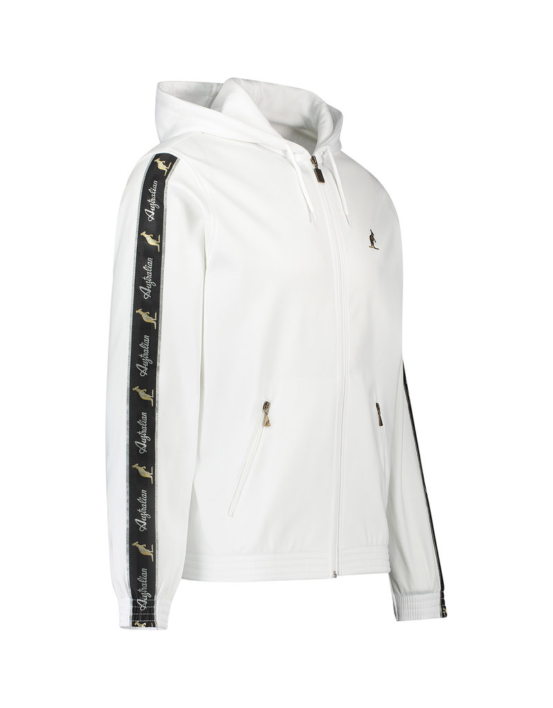 Australian Australian Hooded Trainingsjasje met bies (White/Black)