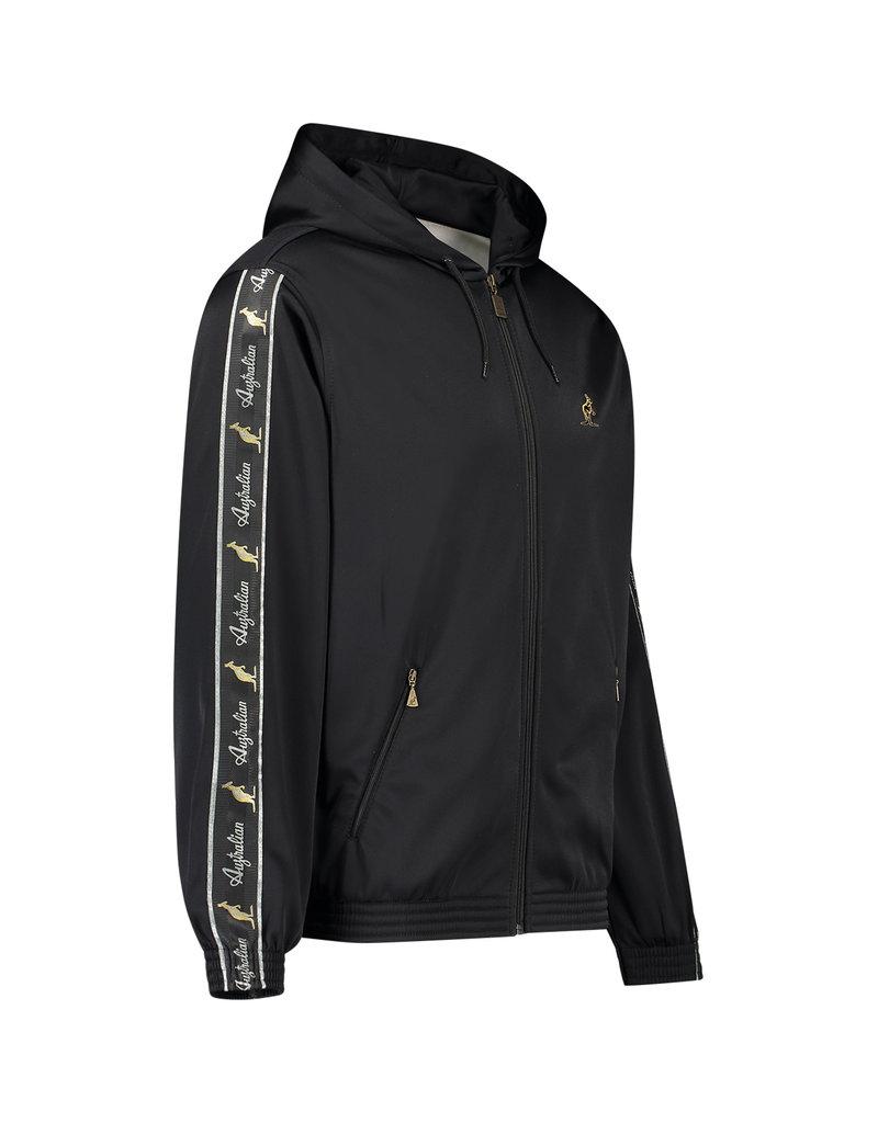 Australian Australian Hooded Trainingsjacke mit Streifen (Black/Black)