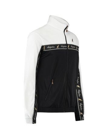 Australian Australian Duo Track Jacket with tape (White/Black)