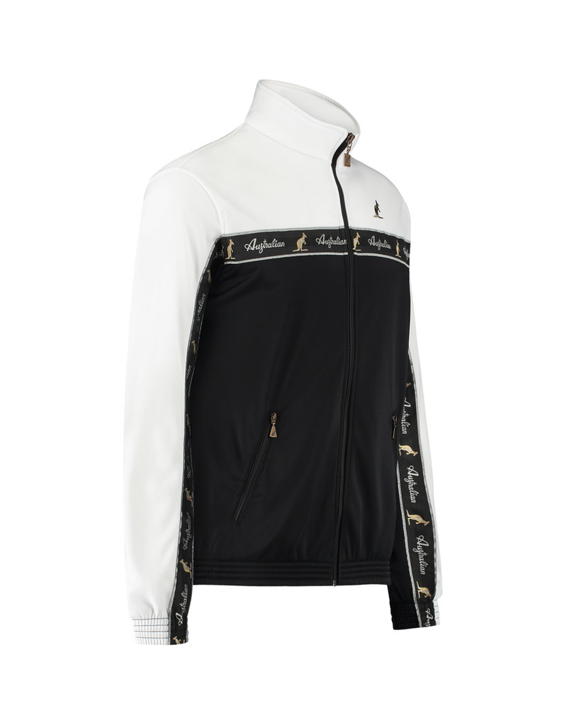Australian Australian Duo Track Jacket with tape (White/Black)