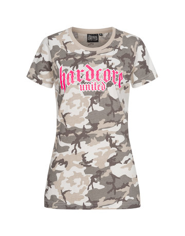 Hardcore United Hardcore United Ladies T-shirt 'Lady Camo'