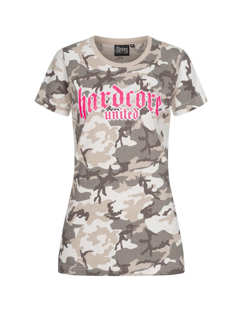Hardcore United Hardcore United Ladies T-shirt 'Lady Camo'