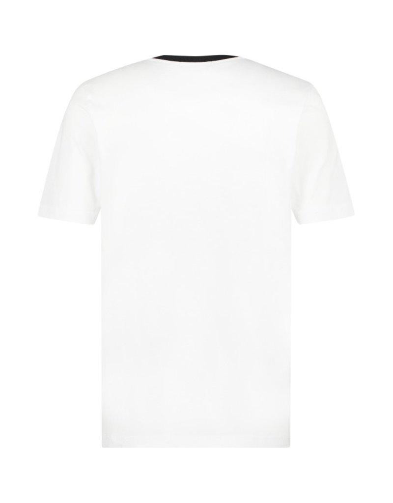 Australian Australian T-Shirt Jersey met chest bies (White/Black)
