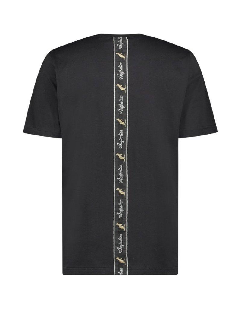 Australian Australian T-Shirt Jersey met rug bies (Black/Black)