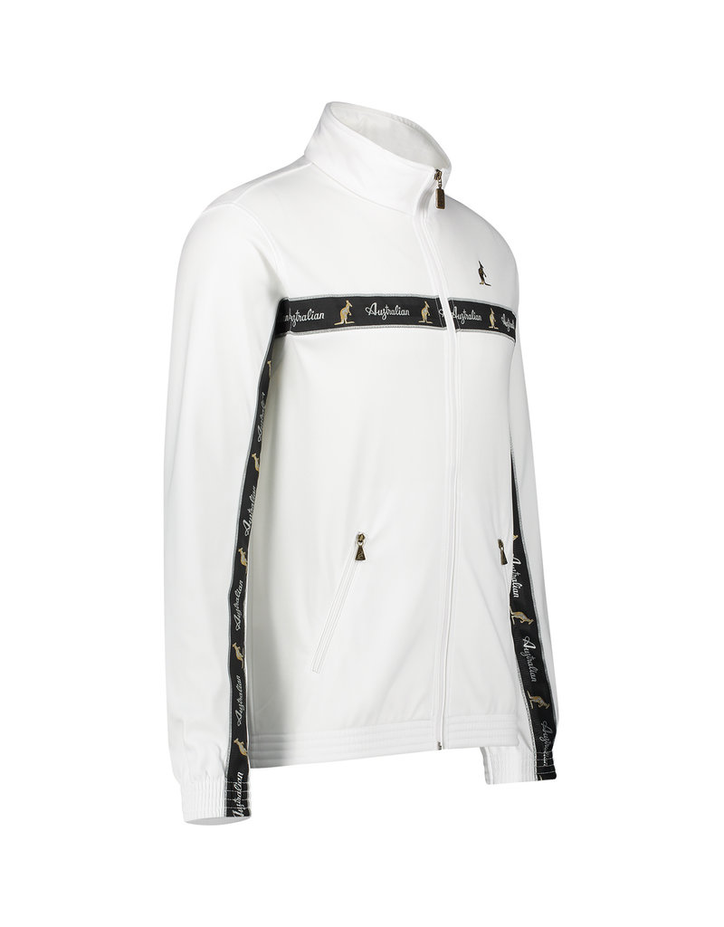 Australian Australian Track Jacket with tape (White/Black)