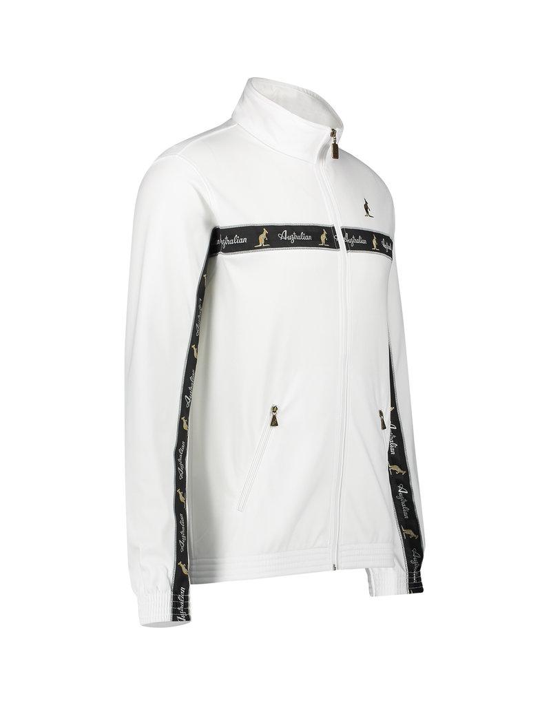 Australian Australian Uni Track Jacket with tape (White/Black)