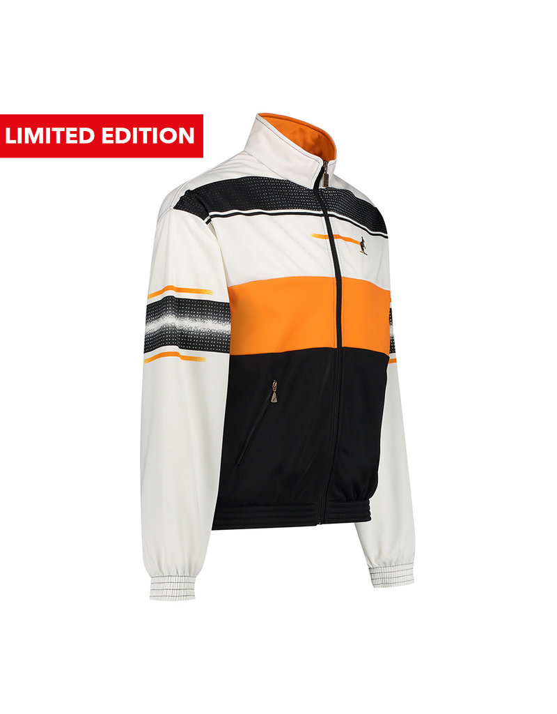 "Australian Australian Duo Print Track Jacket ""Acetate Limited"" (Black/Orange)"