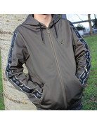 Australian Australian Hooded Track Jacket (Green Dill/Black)