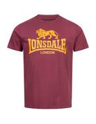 Lonsdale Lonsdale T-Shirt 'Logo Gots' Vintage Oxblood