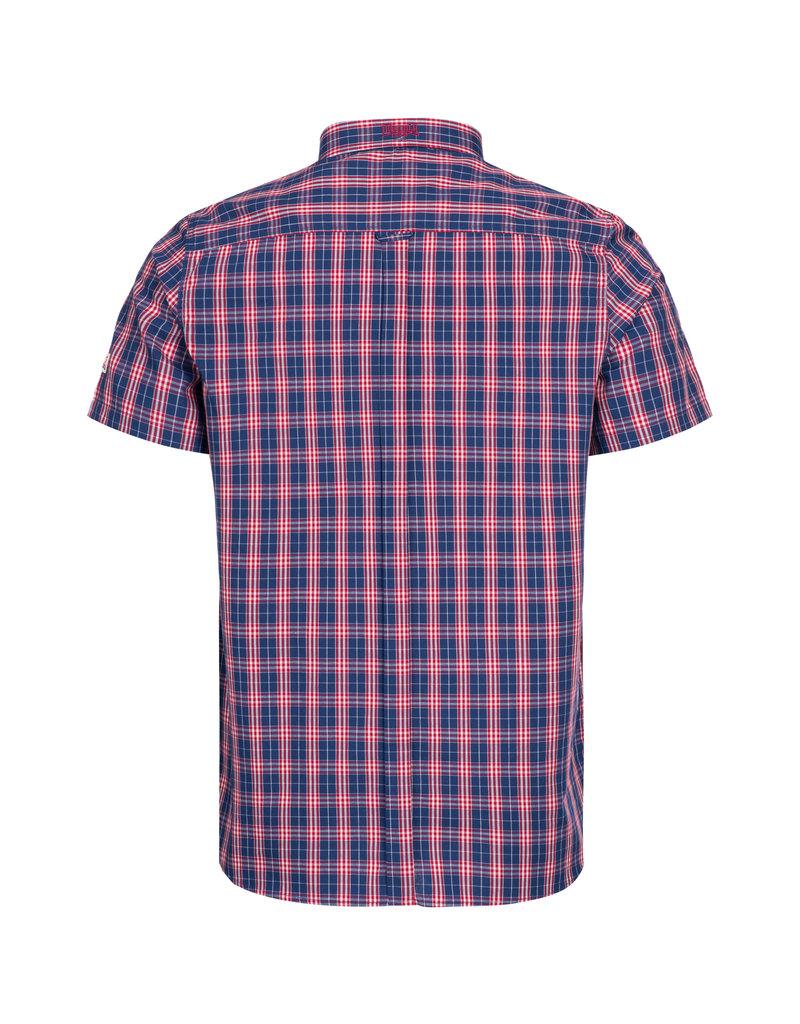 Lonsdale Lonsdale Herren Kurzarmhemd schmale Passform 'Brixworth' Red/White/Dark Blue