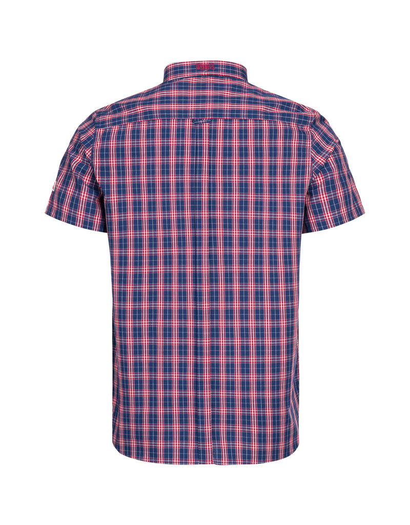 Lonsdale Lonsdale Men Shirt Slim Fit 'Brixworth' Red/White/Dark Blue