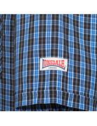 Lonsdale Lonsdale Men Shirt Slim Fit 'Brixworth' Blue/White/Black