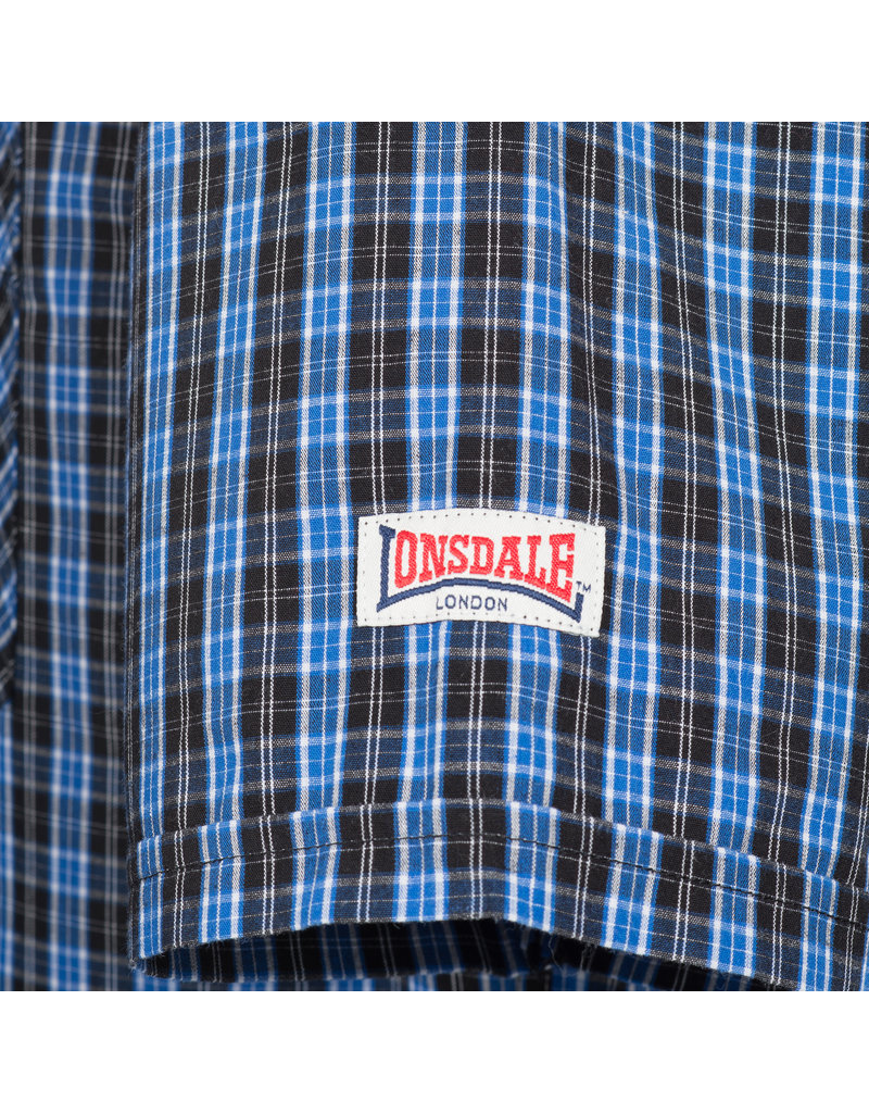 Lonsdale Lonsdale Slim-Fit Overhemd 'Brixworth' Blue/White/Black