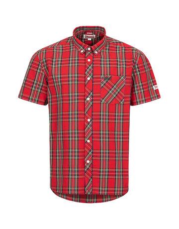 Lonsdale Lonsdale Men Shirt Slim Fit 'Brixworth' Royal Steward