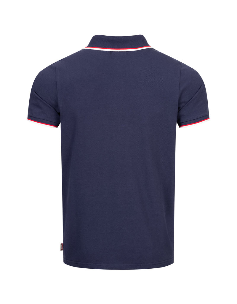 Lonsdale Lonsdale Polo 'Lion Gots' schmale Passform Navy/Dark Red