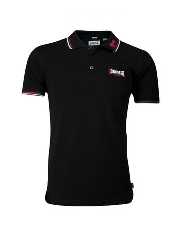 Lonsdale Lonsdale Polo 'Lion Gots' Slim Fit Black/Dark Red/White