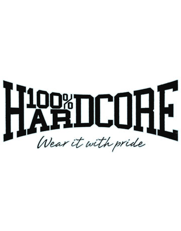 100% Hardcore 100% Hardcore Car Sticker 'Black'