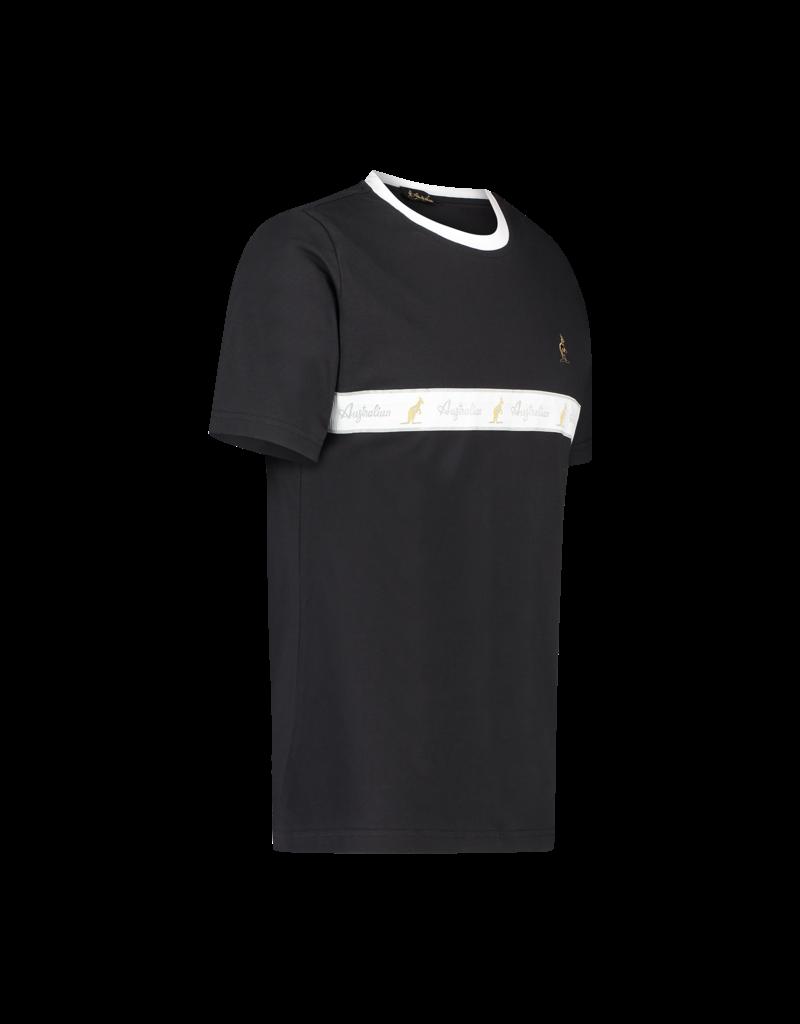 Australian Australian T-Shirt Jersey mit Streifen (Black/White)