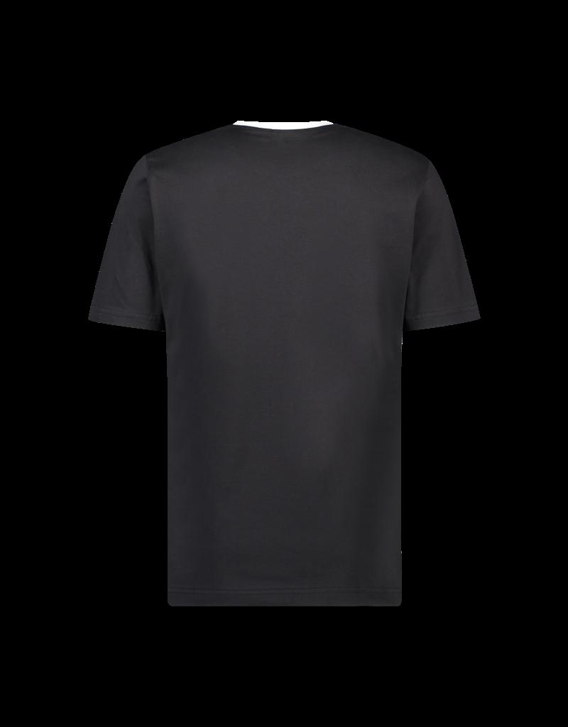 Australian Australian T-Shirt Jersey met bies (Black/White)