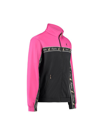 Australian Australian Duo Track Jacket with tape (Fuxia/Black)