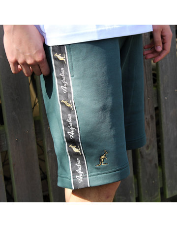 Australian Australian Sweat Shorts with tape (Woods Green/Black)