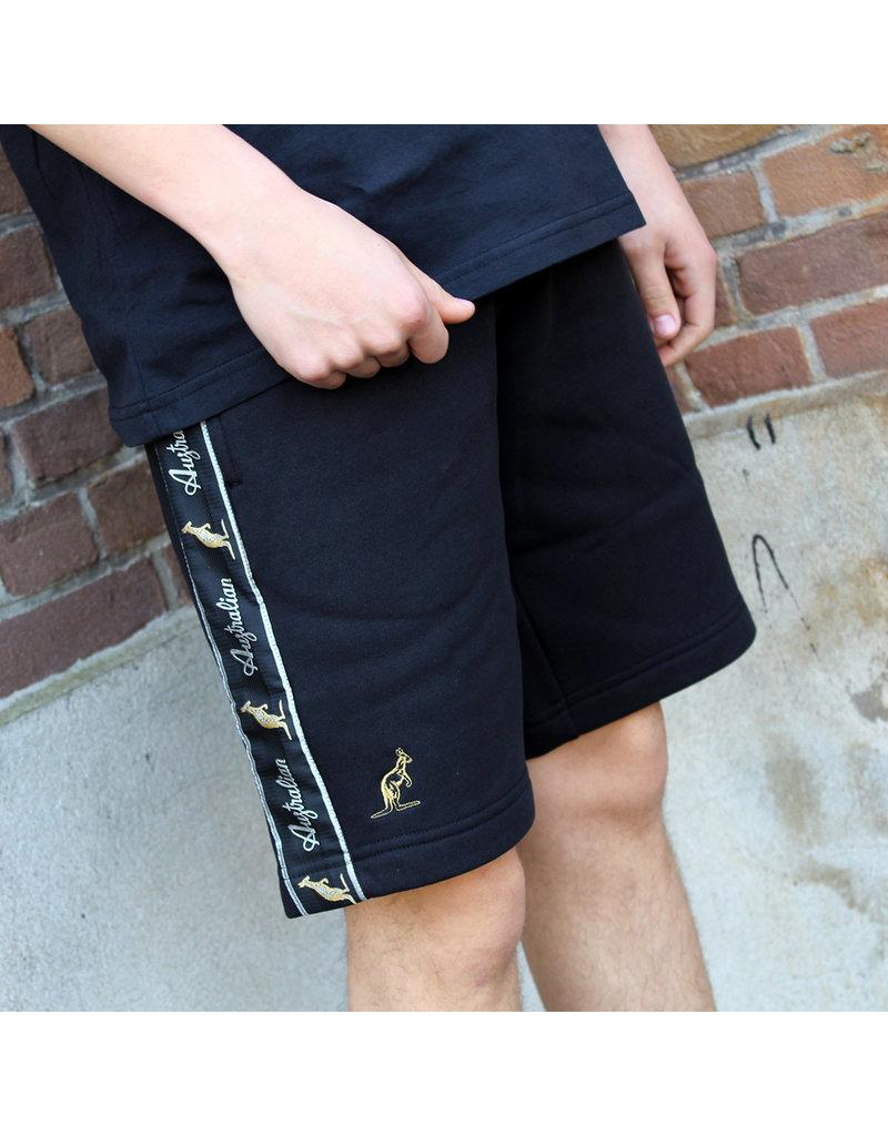 Australian Australian Sweatpants Shorts with tape (Black/Black)