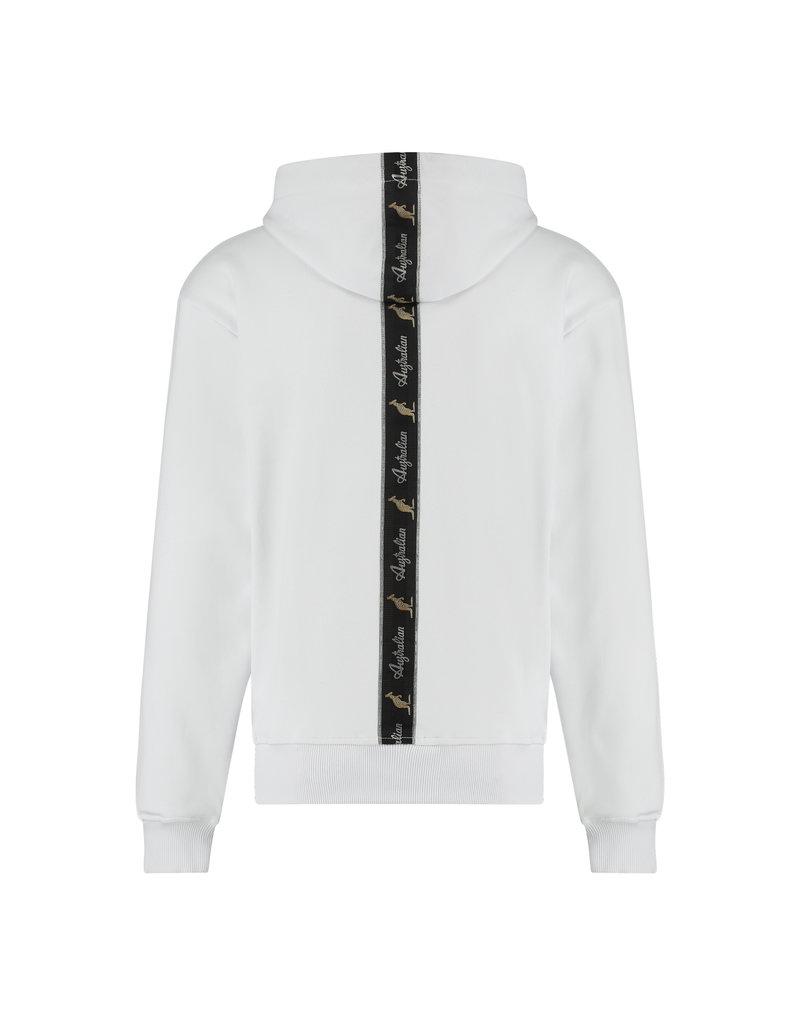 Australian Australian Hoodie with tape (White/Black)