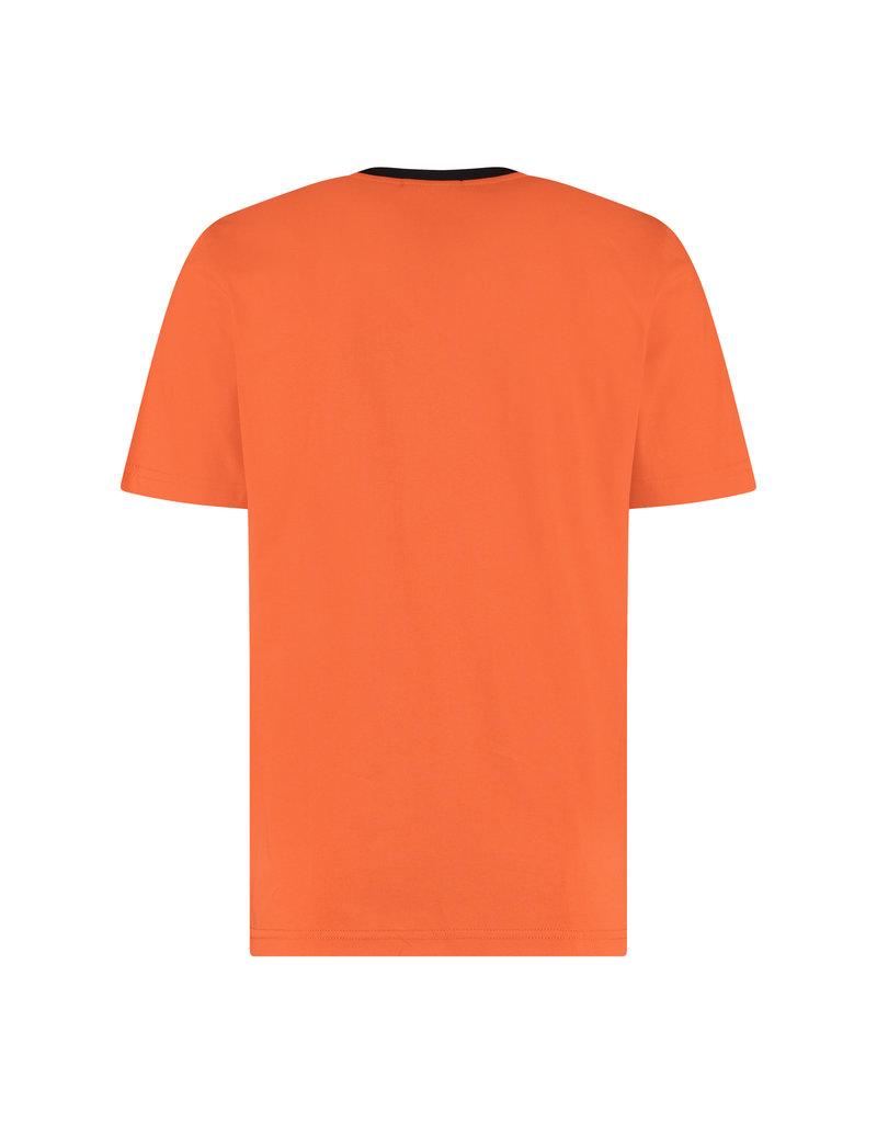 Australian Australian T-Shirt Jersey mit Streifen (Lava/Black)
