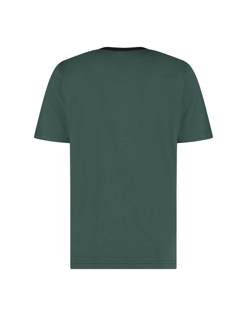Australian Australian T-Shirt Jersey met sleeve bies (Woods Green/Black)