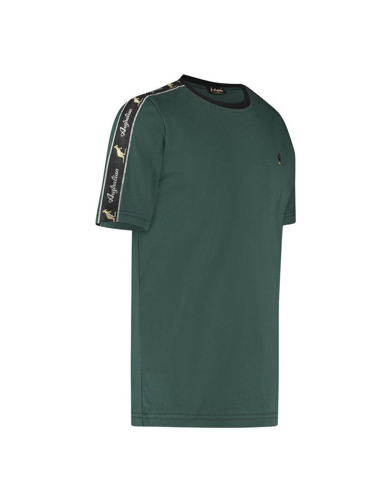 Australian Australian T-Shirt Jersey with tape (Woods Green/Black)