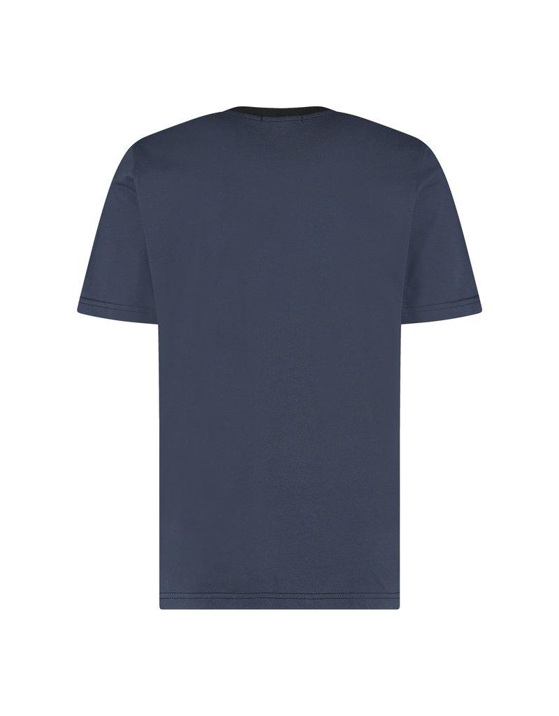Australian Australian T-Shirt Jersey with tape (Blue Navy Melange/Black)