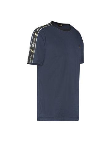 Australian Australian T-Shirt Jersey mit Streifen (Blue Navy Melange/Black)