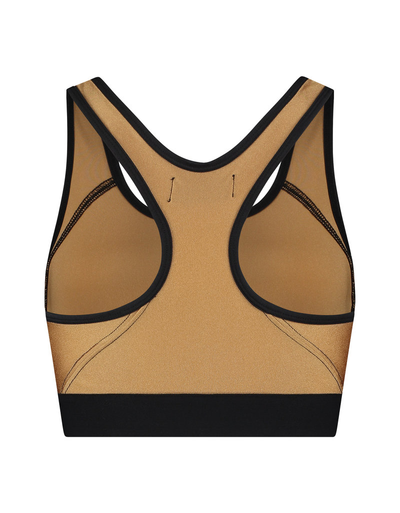 Australian Australian Dames Glossy Sport Top (Gold)