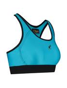 Australian Australian Dames Glossy Sport Top (Turquoise Glossy)