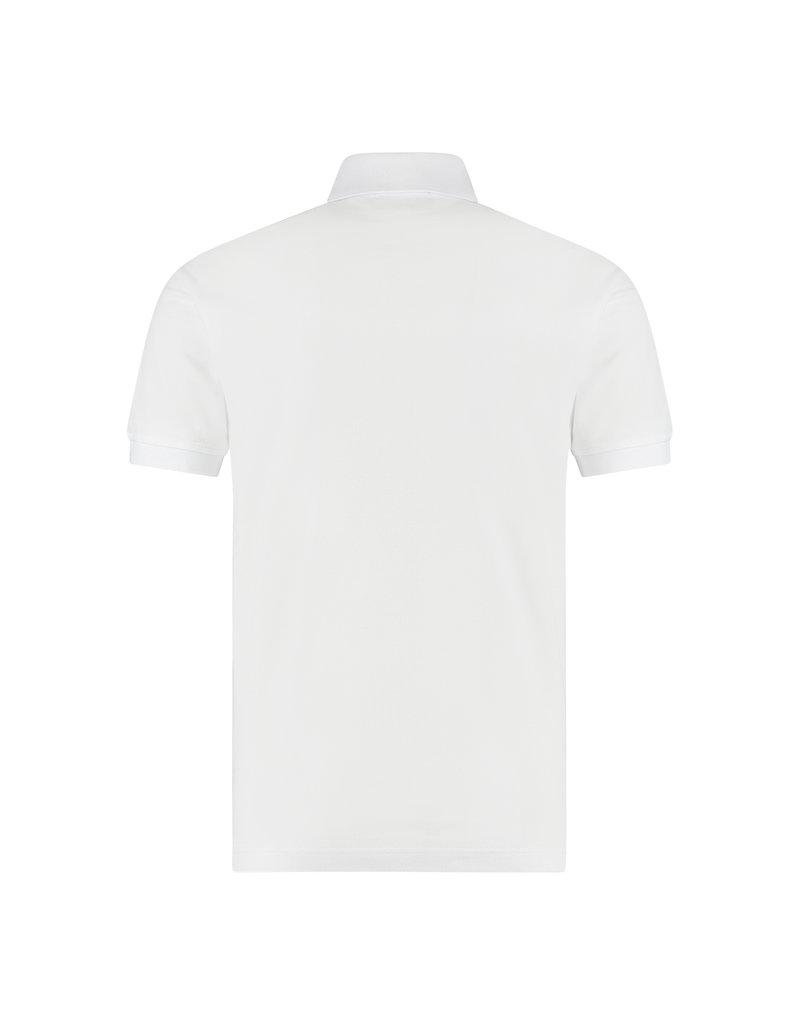 Australian Australian Polo Slim-Fit met bies (White/Black)