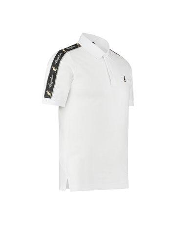 Australian Australian Polo Slim-Fit with Tape (White/Black)