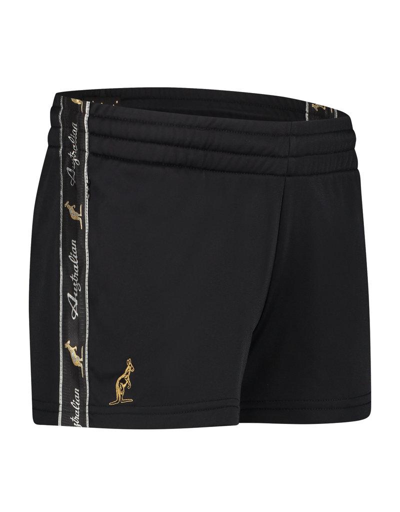 Australian Australian kurze Sporthose für Damen mit Streifen (Black/Black)