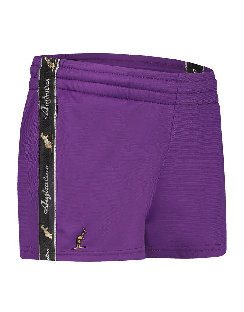Australian Australian Women Shorts with tape (Violet/Black)