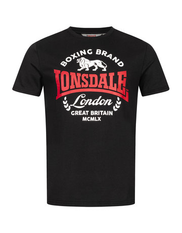 Lonsdale Lonsdale T-Shirt 'Waddon' (Black/Red/White)