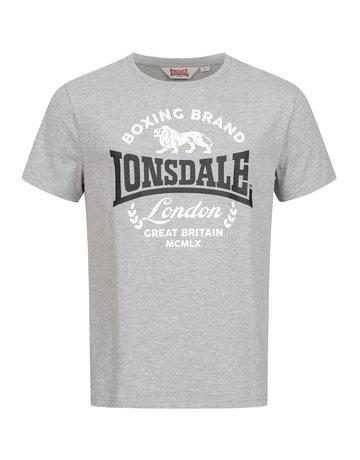 Lonsdale Lonsdale T-Shirt 'Waddon' (Marl Grey/Black/White)