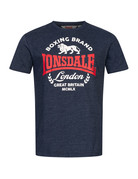 Lonsdale Lonsdale T-Shirt 'Waddon' (Marl Navy/Red/White)
